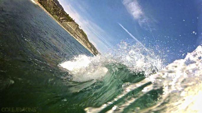 Topanga State Beach Barrel!